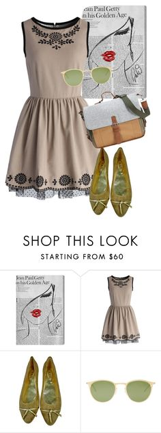 """""""dress"""" by masayuki4499 ❤ liked on Polyvore featuring Oliver Gal Artist Co., Chicwish, Tod's, Mykita and Something Strong"""