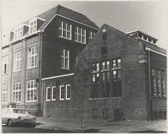 Haarlem 1961 Mr.Cornelisstraat hoek Brakenburghstraat. De voormalige L.T.S.