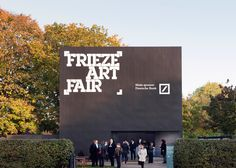 London-based Universal Design Studio has built an entrance pavilion and a vast temporary structure to house the Frieze Art Fair, taking place in Regent's Park this week.