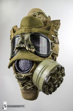 U.S.M.C. Combat Boot Gas Mask by Freehand Profit