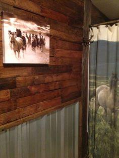 134 best tin walls. images | barn bathroom, home decor