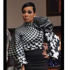 How I love the houndstooth blouse Theestyledictator