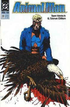 Animal Man (1988) 33 DC Comics Book cover art super heroes villians