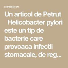Un articol de Petrut  Helicobacter pylori este un tip de bacterie care provoaca infectii stomacale, de regula asimptomatice. Infectiile cu aceasta bacterie afecteaza aproximativ doua treimi din populatia lumii, principalul mod de contaminare fiind prin apa si alimentatie.  Netratate, infectiile pot degenera in ulcere peptice si, in cazuri extreme, chiar cancere stomacale. Prezenta … Math Equations