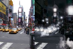 How to create a smokey cityscape effect in Photoshop