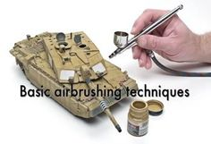 Basic airbrushing techniques - Learn about air pressure, distance from your model, and proper hand movement.