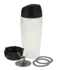 The Oster 6026 Blend-N-Go cup is perfect for anyone on the go. Simply blend directly in this 20-ounce cup, remove the blade and add the drinking lid. Easy to clean and dishwasher safe. Fits in most car cup holders.  - http://kitchen-dining.bestselleroutlet.net/product-review-for-oster-blender-blend-n-go-smoothie-kit/