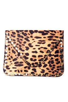 Cheetah Envelope Clutch