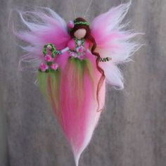 Your place to buy and sell all things handmade Fairy Crafts, Angel Crafts, Christmas Angel Decorations, Felt Angel, Spring Fairy, Felt Fairy, Cloth Flowers, Flower Fairies, Waldorf Dolls