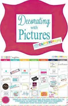 Decorating with Pictures | 28 days where contributors share how they decorate their homes with  pictures @KirstenDuke7