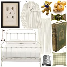 Living in Neverland via Design Sponge.  (Particularly the vintage insect print.) Peter Pan room