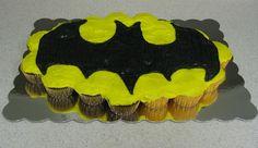 Batman cupcake cake for my son