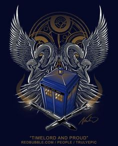 Whovian Coat of Arms by corinne Desenhos Doctor Who, Doctor Who Tattoos, Day Of The Shirt, Doctor Who Art, Dalek, Torchwood, Bad Wolf, Time Lords, Dr Who