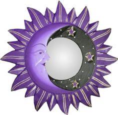 Amazon.com - Small Purple Sun, Moon & Star Mirror