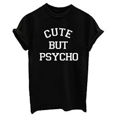 YITAN Letter Print Short sleeve O Neck Women T Shirt Top at Amazon Women's Clothing store: