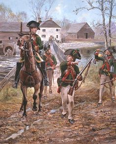 The Hessian Jaeger Corps hired by the British to fight during the American War for Independence was among the finest light troops employed during the conflict. Armed with short rifles and dressed in green they were every bit the equals of the Patriots with their long rifles. Having both mounted and foot components they fought in nearly every campaign from 1776-1782 and were rarely bested on the field of battle.Don Troiani shows a Jaeger patrol about 1778