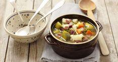 Pórková polievka s hráškom a mrkvou - dôkladná príprava krok za krokom. Recept patrí medzi tie najobľúbenejšie. Celý postup nájdete na online kuchárke RECEPTY.sk. Eat Smarter, Fondue, Ethnic Recipes, Kitchen, Dose, Meat, Potato, Polish Cuisine, Polish Food Recipes