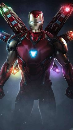 Iron Man Mark 85 Infinity Stone Armor IPhone Wallpaper - IPhone Wallpapers