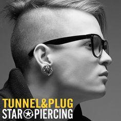 Piercing, Flesh Tunnel, Star Wars, Pink Stone, Ear Plugs, Antique Silver, Silver Plate, Diamond Earrings, Plating