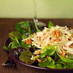 Cabbage, Walnut, Apple Salad