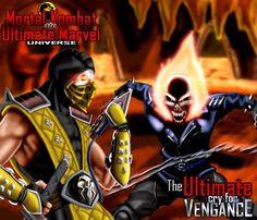 scorpion vs ghost rider by on DeviantArt Mortal Combat, Second World, Ghost Rider, Street Fighter, Scorpion, Marvel Universe, Comic Art, Marvel Comics, Deadpool