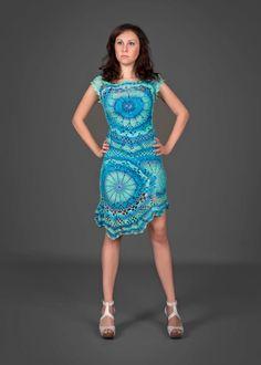 Exclusivo azul cian crochet el traje de dos piezas por LecrochetArt