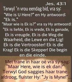 Bible Prayers, Afrikaans, Inspiring Quotes About Life, Trust God, Life Quotes, Truths, Lisa, Inspirational, Art
