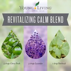 Young Living Essential Oils: Revitalizing Calm Blend for the Diffuser | Blend these essential oils together for a calming and revitalizing aromatic environment. It's the perfect way to start the new year! For more information and to order Young Living, visit: WWW.THESAVVYOILER.COM