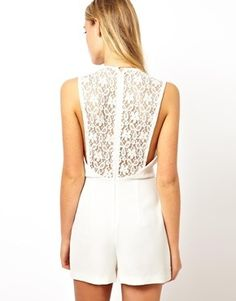 56a0b009c9 Fashionable Scoop Collar Lace Hollow Out Sleeveless Women s Jumpsuit
