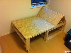 kentaroBlog: 日曜大工日和。de sofa a cama y viceversa.