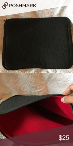 Mucky mouse computer sleeve Never used computer sleeve with embossed Mickey logo on the outside Bags Laptop Bags