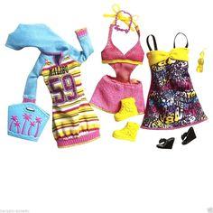 Barbie Fashionistas Dress Clothes Accessories Set Kids Girls Toys | eBay
