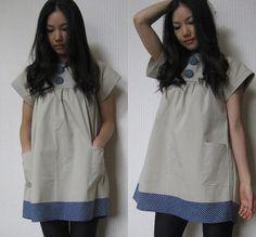 Polka dot big buttons dress by vivatveritas, via Flickr