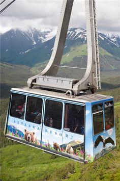 Get an aerial view of #Alaska on the Alyeska Resorts Tram #treasuredtravel