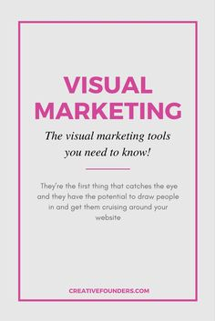 Visual Marketing Tools. From Canva to Picmonkey, here are some of the visual marketing tools you should know about!