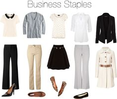 Business Staples by beigs, via Polyvore