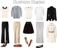 Business Staples by beigs, via Polyvore