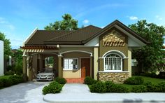 Small Bungalow House Design - Home Decoratings And DIY Bungalow Haus Design, Small Bungalow, Modern Bungalow House, Bungalow House Plans, Duplex House, Bedroom House Plans, Simple House Design, Modern House Design, Bungalows