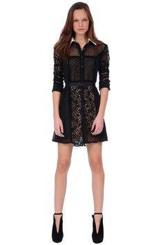 GOTH LOLITA SHIRT DRESS | FOLEY + CORINNA $325