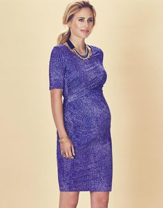 Croc Print Maternity & Nursing Dress | Seraphine | Stylish maternity dresses | Fashion for pregnancy