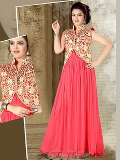 Add a burst of beauty to your ensemble with this amazing piece. Item Code: GTF3011 http://www.bharatplaza.com/new-arrivals/gowns.html