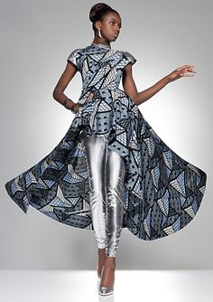 Model Leomie Anderson for Vlisco's Parade Of Charm Campaign.