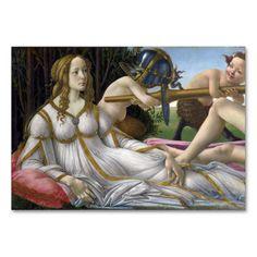 Venus and #Mars by Sandro  #Botticelli #Table #Card #tablecard