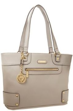 "Amazon.com: Anne Klein Jazzy Geos Large 60269154 Shoulder Bag, Dove Grey, 14"" by 11"""