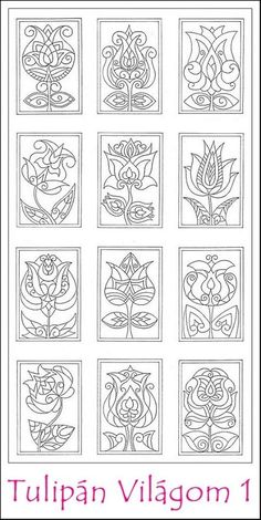 """Image gallery for """"folk motions coloring"""" Source by Hungarian Embroidery, Folk Embroidery, Embroidery Stitches, Embroidery Patterns, Colouring Pages, Adult Coloring Pages, Coloring Sheets, Coloring Books, Diy And Crafts"""