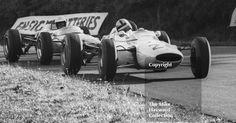 Bernard Collomb, Lotus 35, Cosworth ahead of Brian Hart's Lotus 35, atKnickerbrook, Oulton Park Gold Cup, 1965