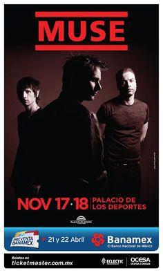Muse 17 y 18 de noviembre Palacio de los Deportes