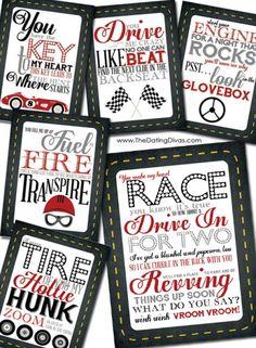 Car Treasure Hunt for HIM- free printable clue cards