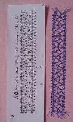 motif12-2 Plus Crochet Vintage, Crochet Lace, Bruges Lace, Bobbin Lacemaking, Bobbin Lace Patterns, Crochet Bookmarks, Lace Jewelry, Tatting Lace, Needle Lace