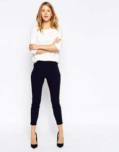 Enlarge ASOS High Waist Skinny Crop Trouser